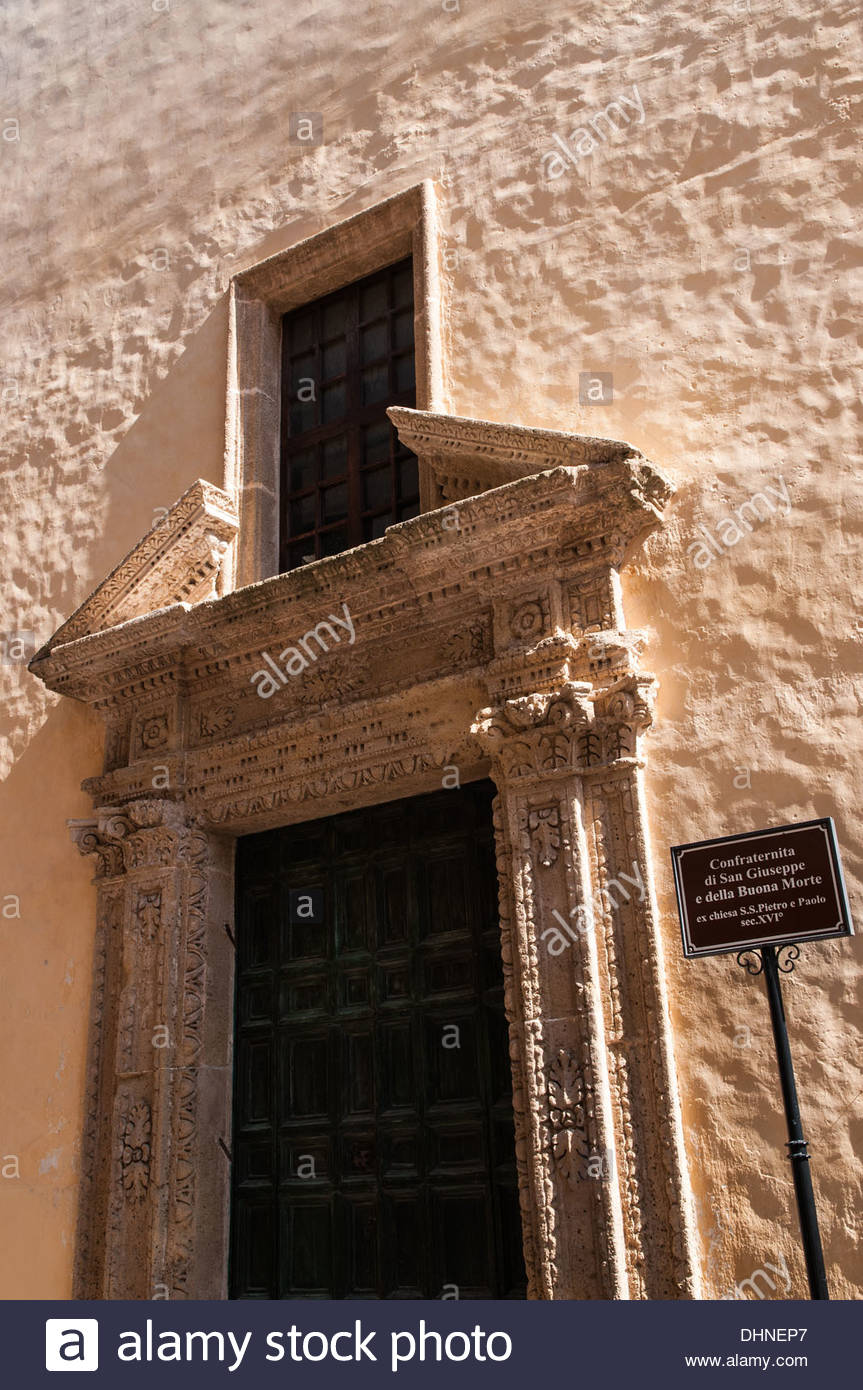 Confraternita di San Giuseppe e della Buona Morte,gallipoli,puglia,italy - Stock Image