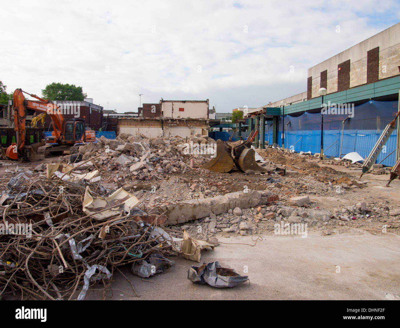 Demolition Beeston town center Nottingham - Stock Image