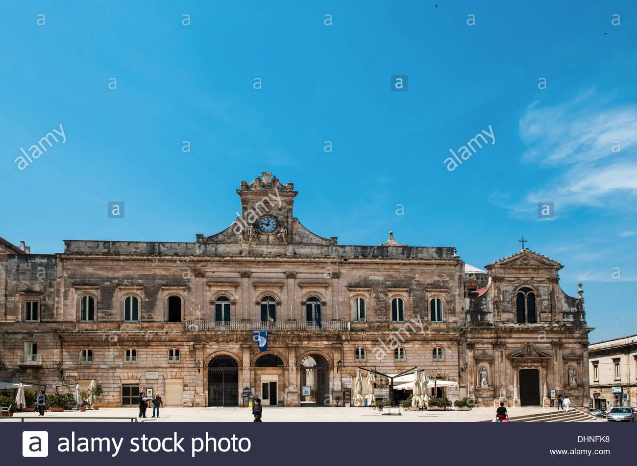 palazzo di città. ostuni,puglia,italy - Stock Image