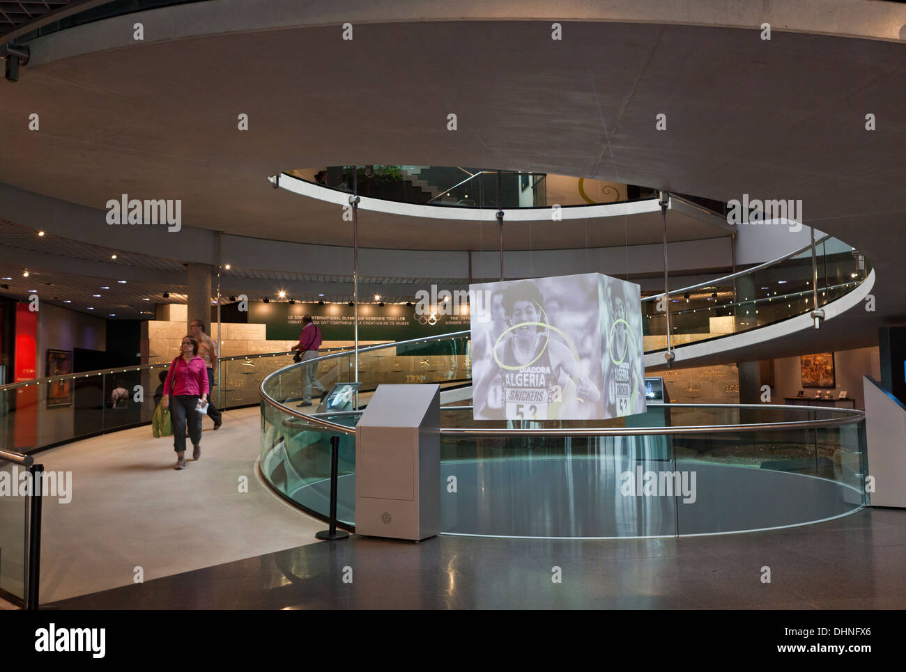 The Olympic Museum in Lausanne, Switzerland. It is one of the most popular attractions in the city. - Stock Image