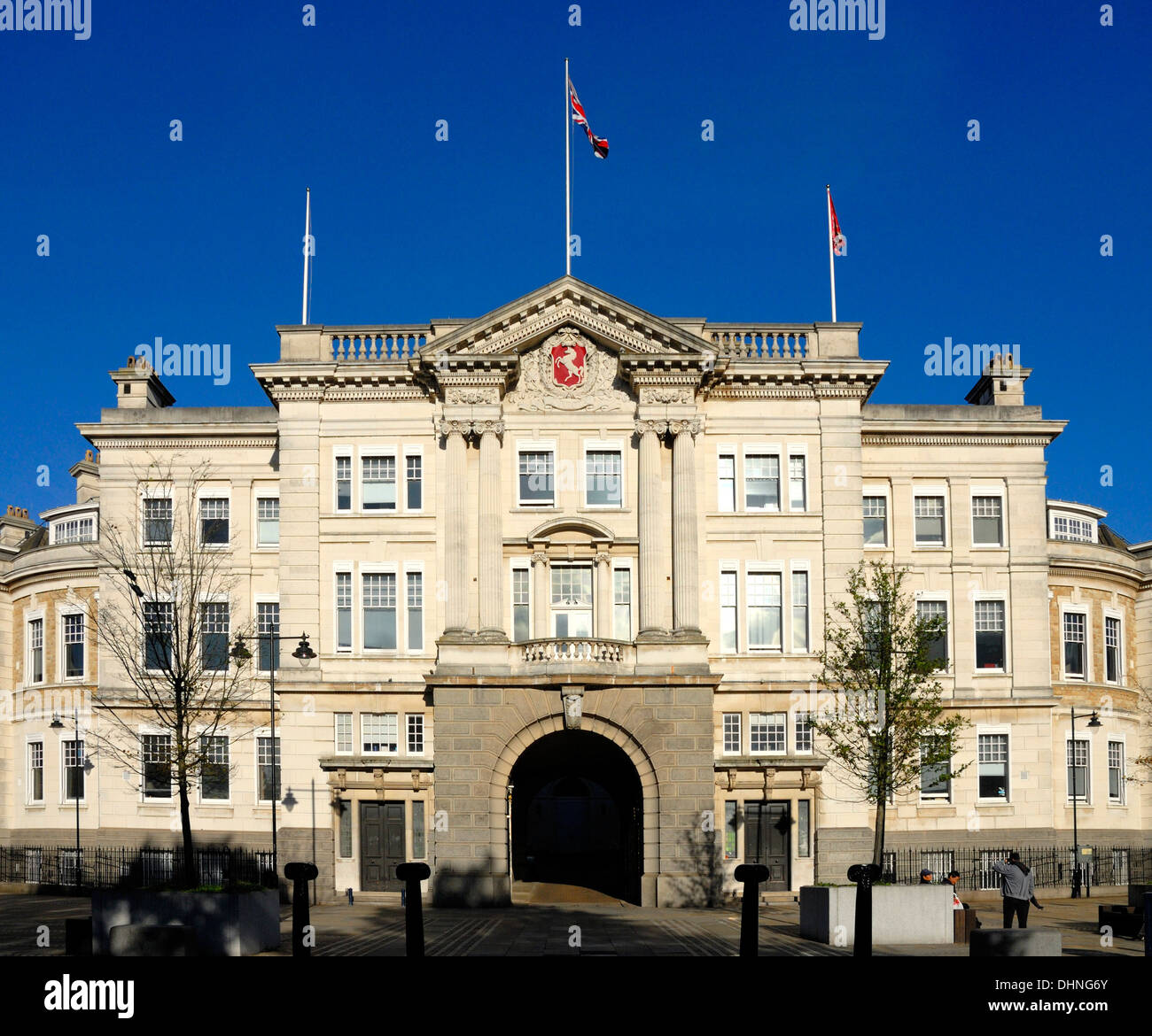 Maidstone, Kent, England, UK. County Hall / Sessions House. Headquarters of the Kent County Council - Stock Image