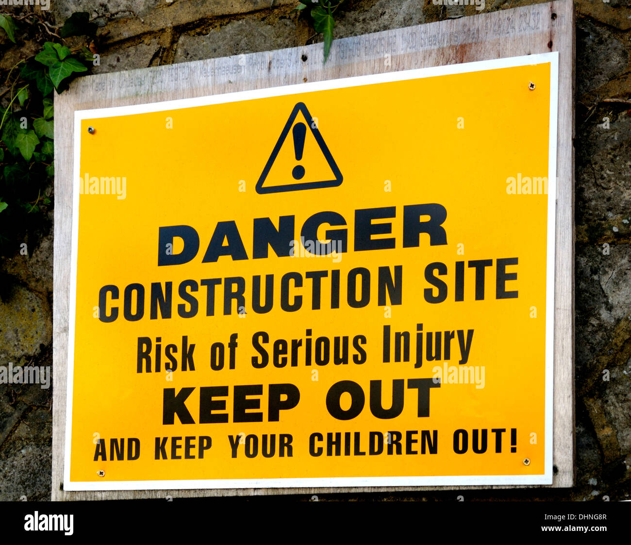 Construction site - Keep Out sign (Maidstone, England) - Stock Image