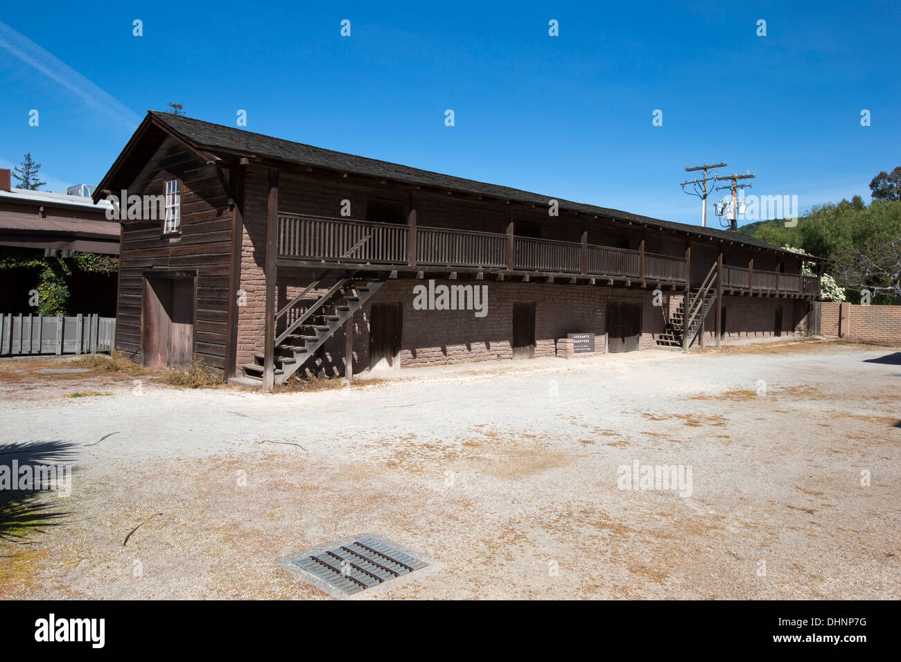 Servants Quarters of La Casa Grande first home of General Mariano Guadalupe Vallejo, Sonoma, California, U.S.A. - Stock Image