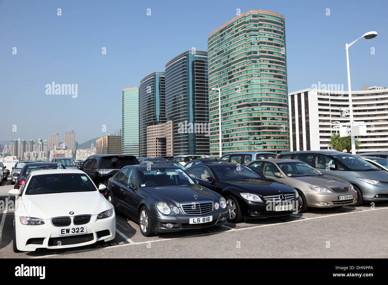 Luxury Cars In Parking Lot In Hong Kong Stock Photo 62559122 Alamy