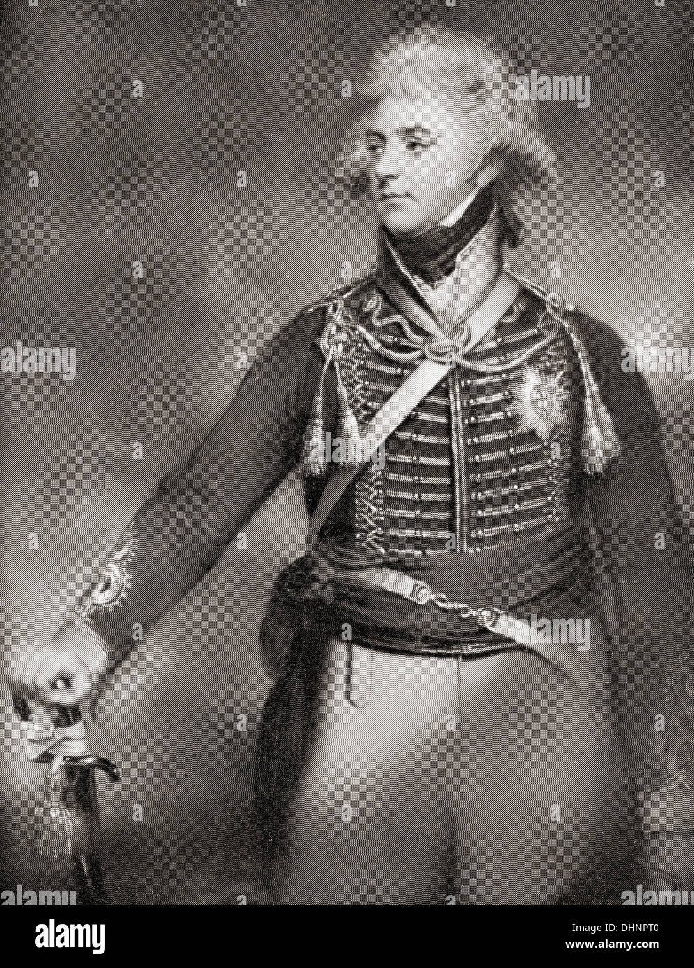 George, Prince of Wales, later George IV, 1762 –1830, aged 36. - Stock Image
