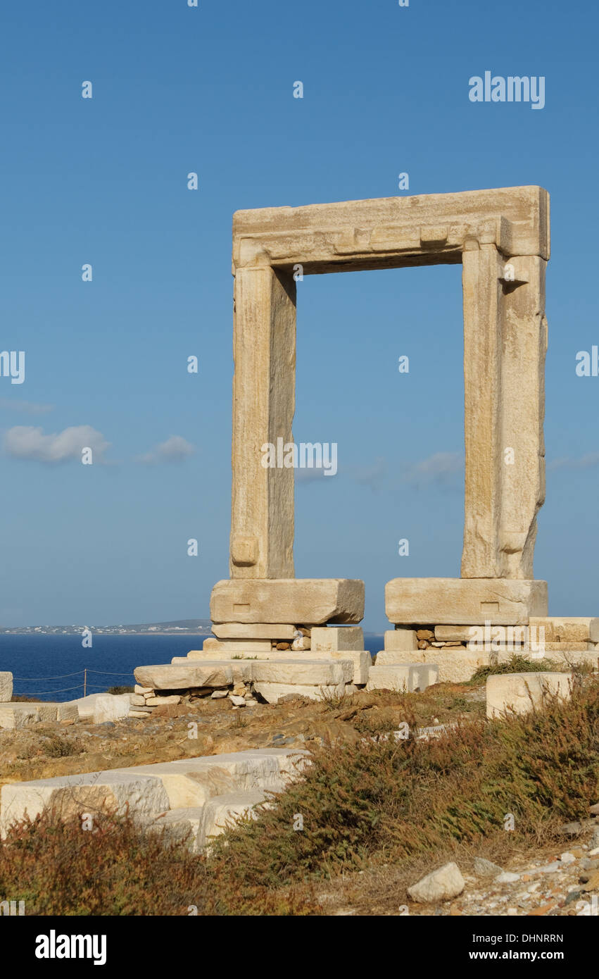 Portara gate, Naxos, Greece - Stock Image