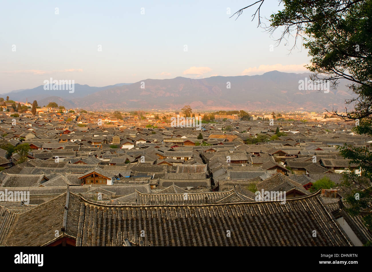 roofs of lijiang old town, yunnan, china Stock Photo