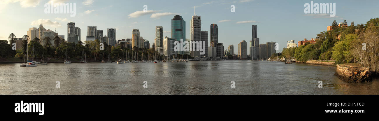 A panorama of Brisbane, Australia. - Stock Image