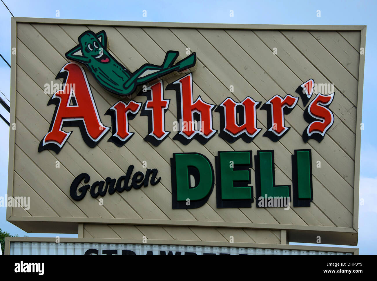 Arthur's Garden Deli is a popular sandwich shop in Dixon, Illinois, a town along the Lincoln Highway - Stock Image
