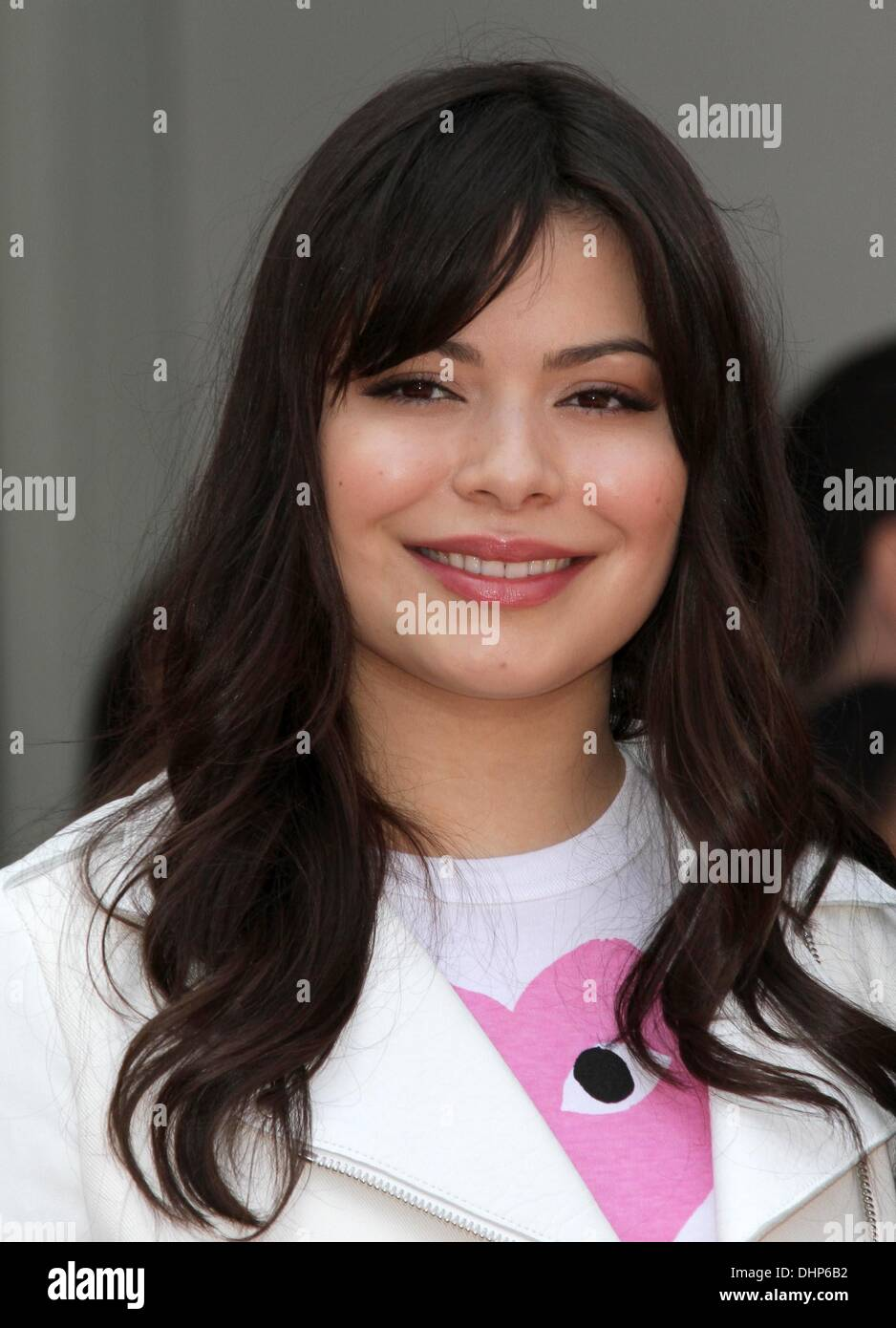 Miranda Cosgrove Radio personality Ellen K with a Star on The Hollywood Walk of Fame Los Angeles, California - 10.05.12 - Stock Image