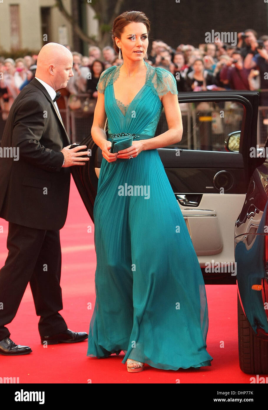 Catherine, Duchess of Cambridge aka Kate Middleton  arrives at the Royal Albert Hall to attend 'Our Great Team - Stock Image