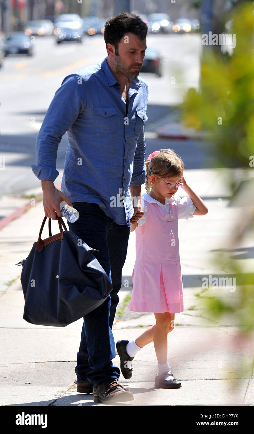 Ben Affleck takes his daughter Violet to Karate class Los