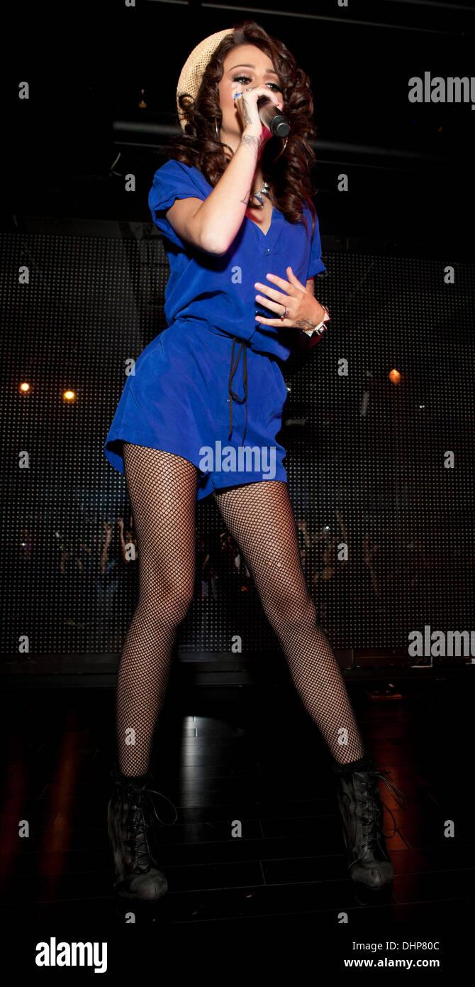 Cher Lloyd performing at XL Nightclub  New York City, USA - 11.05.12 Stock Photo