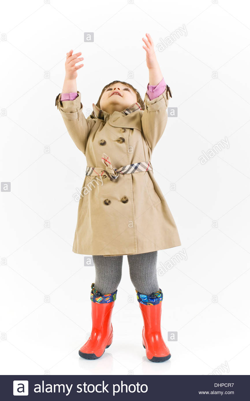 Child with overcoat - Stock Image