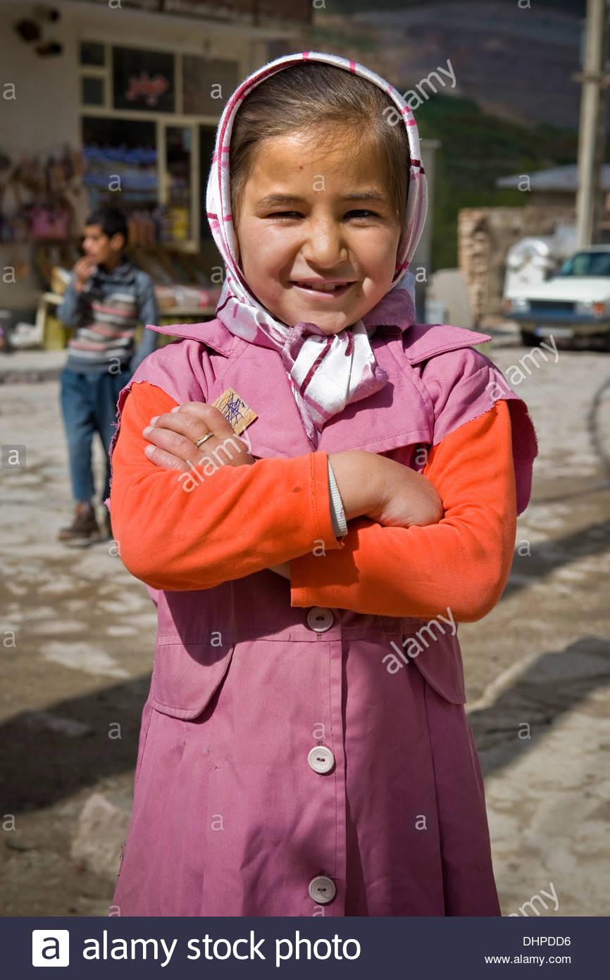 Iran,Azerbaijan region,Kandovan,girl Stock Photo