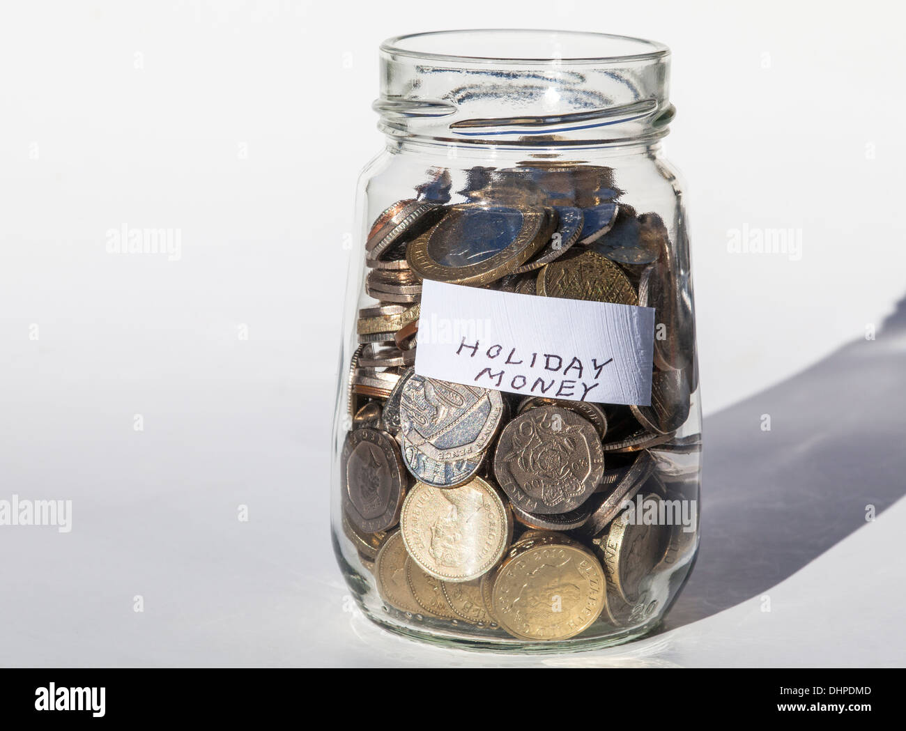 Holiday money savings - Stock Image
