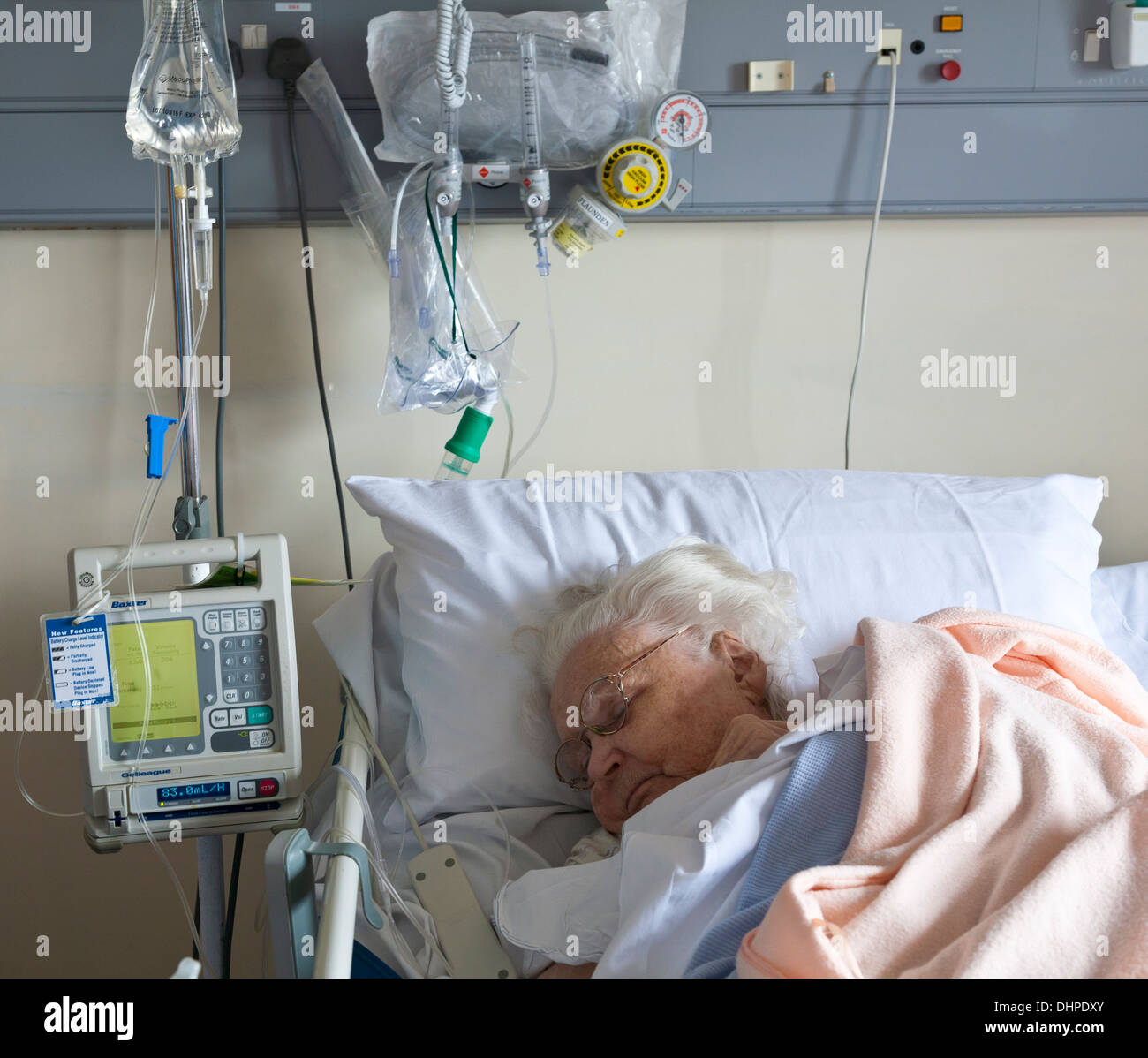 Intensive care bed - Stock Image