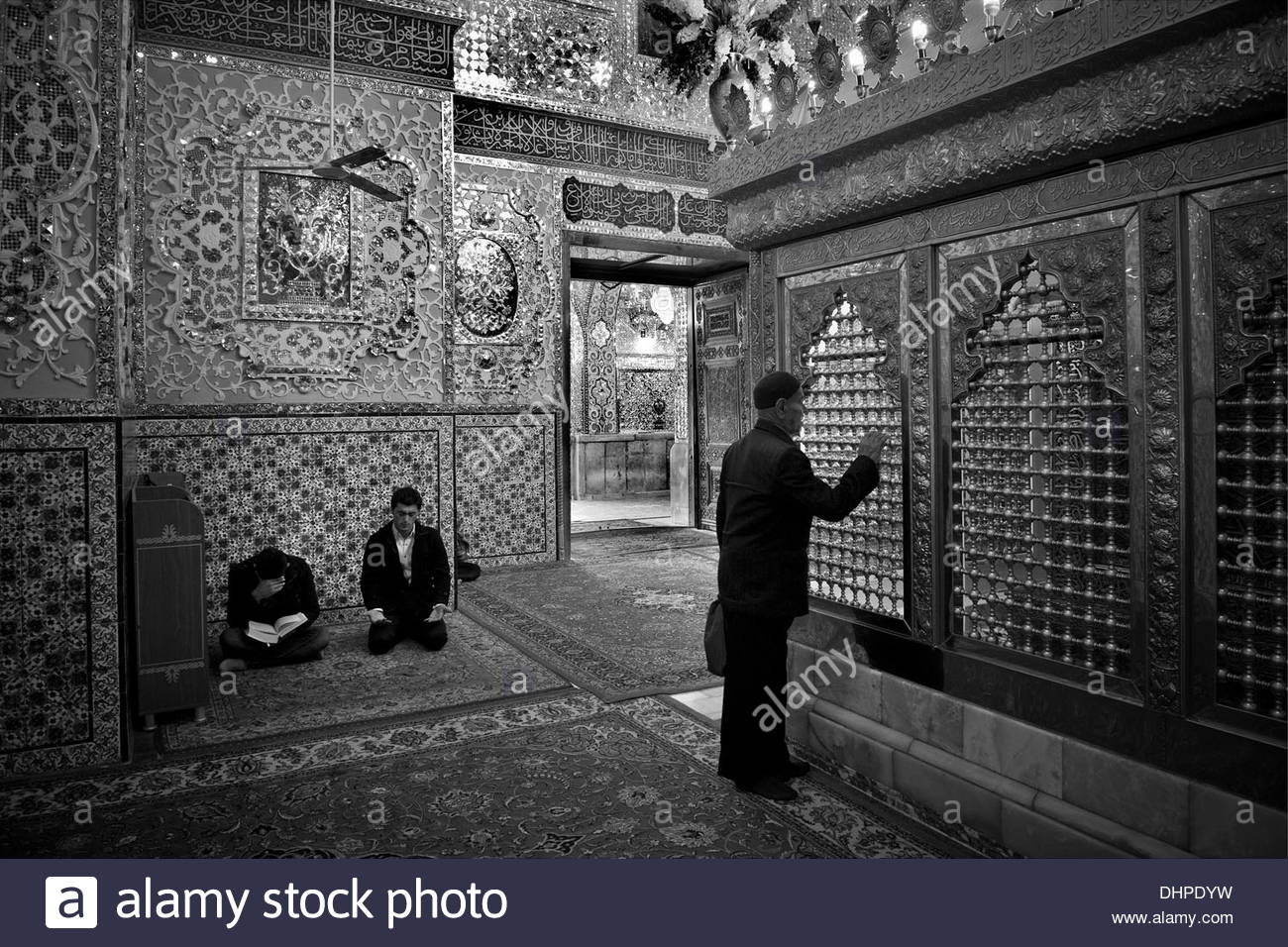 Iran,Qazvin,Shrine of Shahzadeh mosque - Stock Image