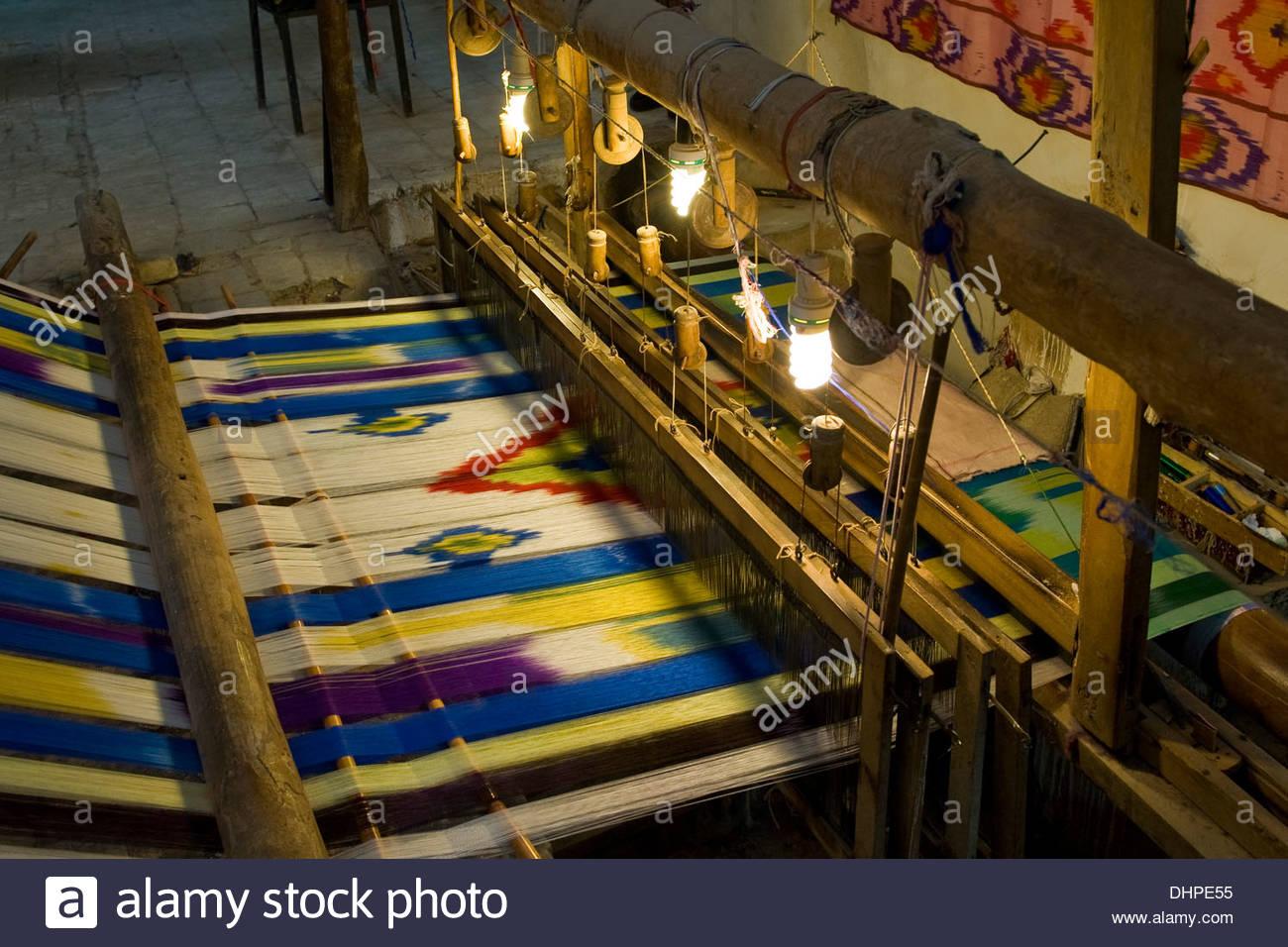 Iran,Yazd,carpets artisan - Stock Image