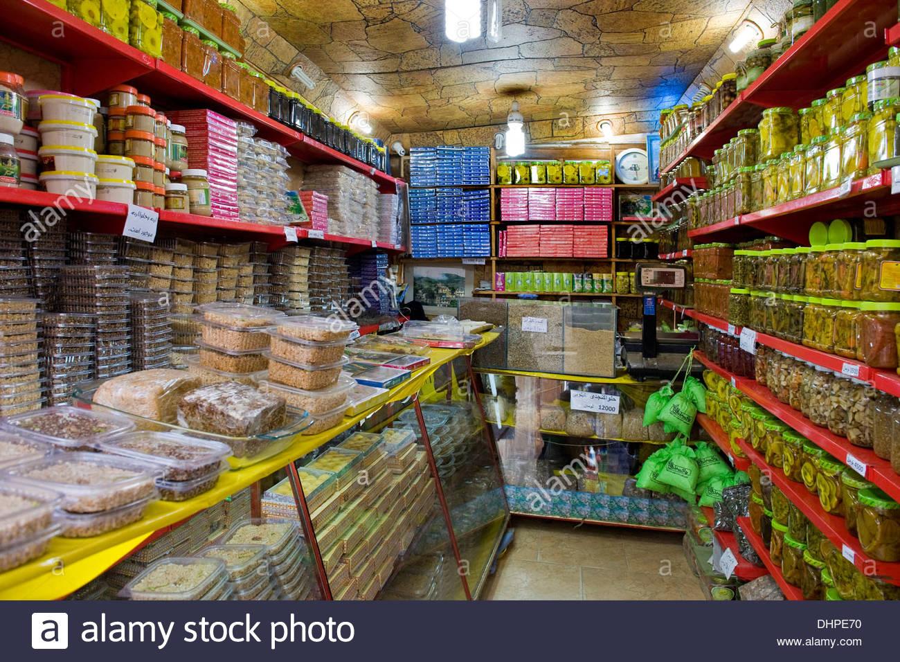 Iran,Azerbaijan region,Masuleh,shop Stock Photo