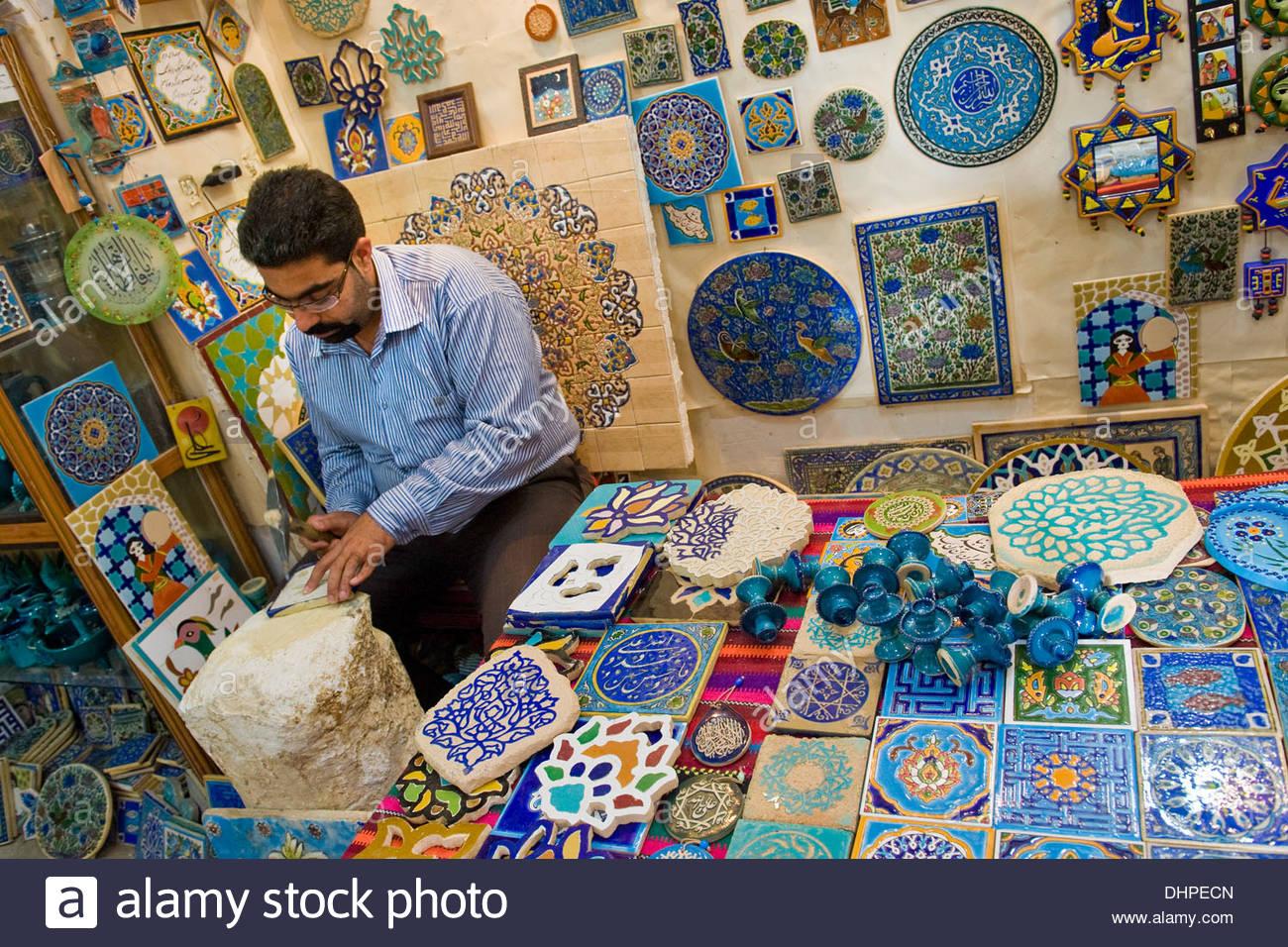Iran,Yazd,ceramic artisan - Stock Image