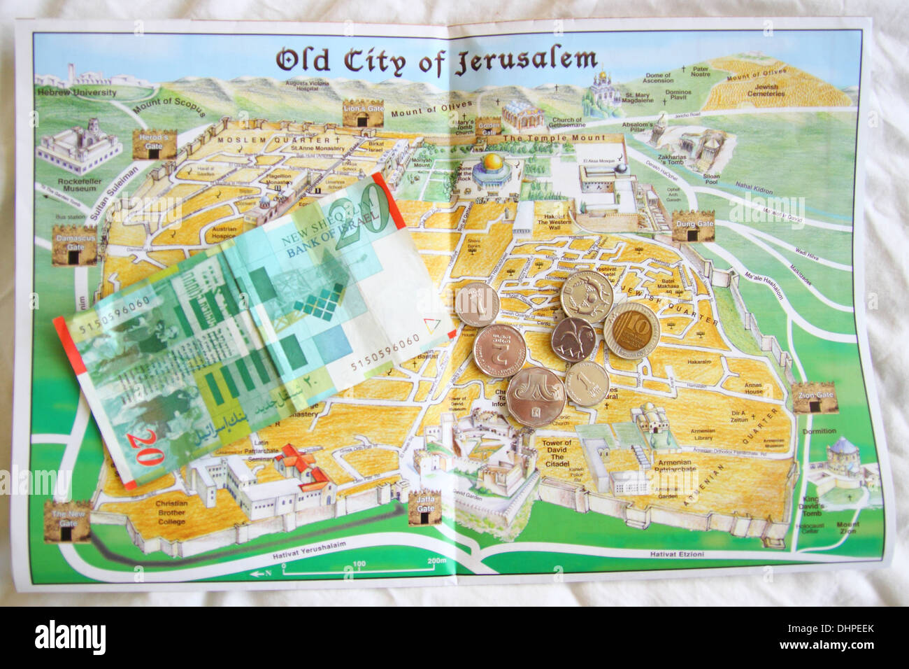 This is map of the old city of jerusalem in israel with the ancient this is map of the old city of jerusalem in israel with the ancient currency of shekels on top gumiabroncs Choice Image