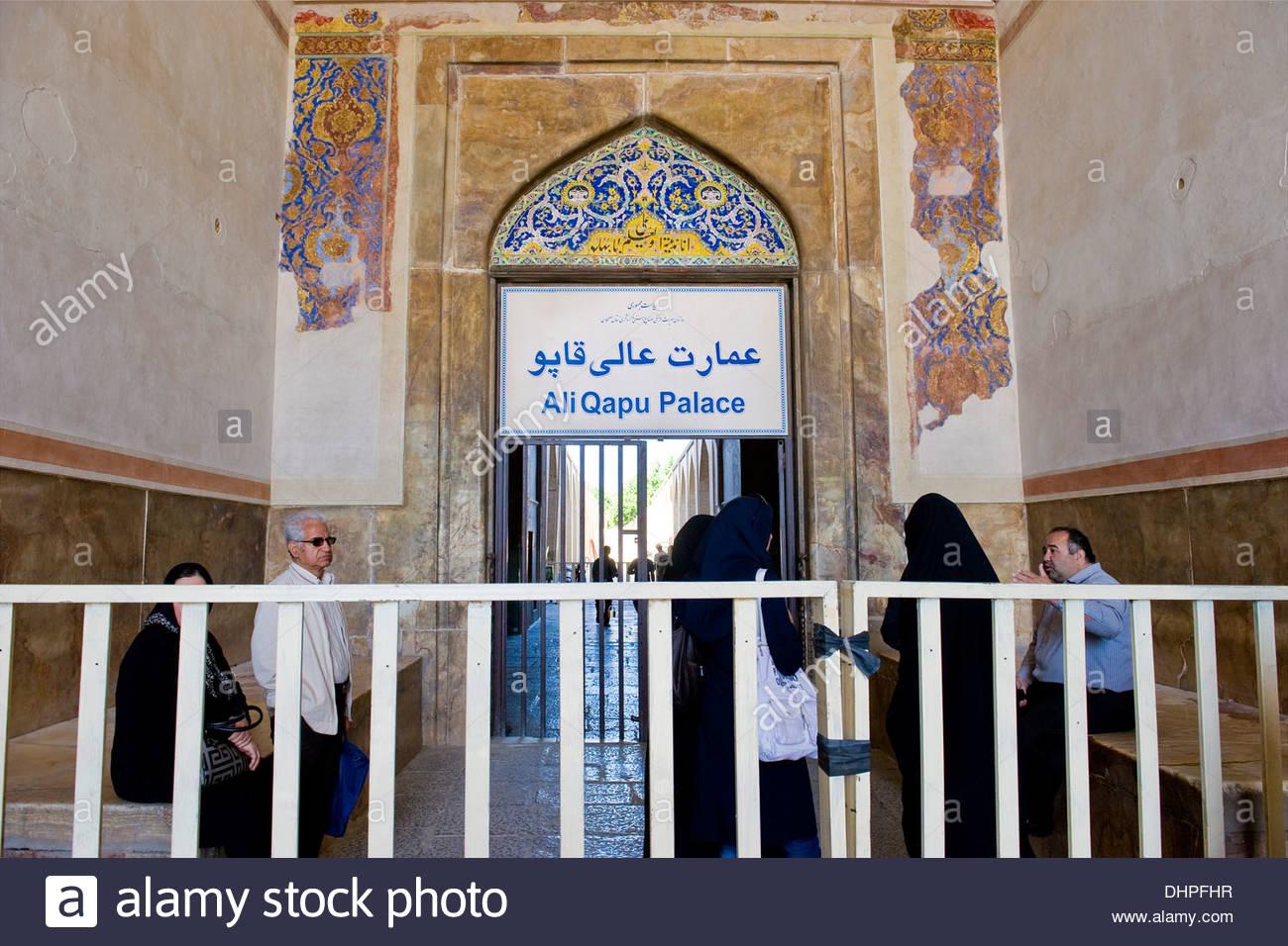 Iran,Isfahan,Ali Qapu palace Stock Photo