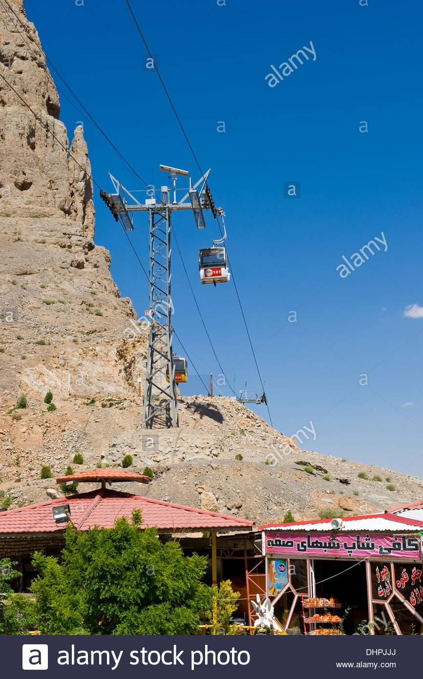 Iran,Isfahan,cableway - Stock Image