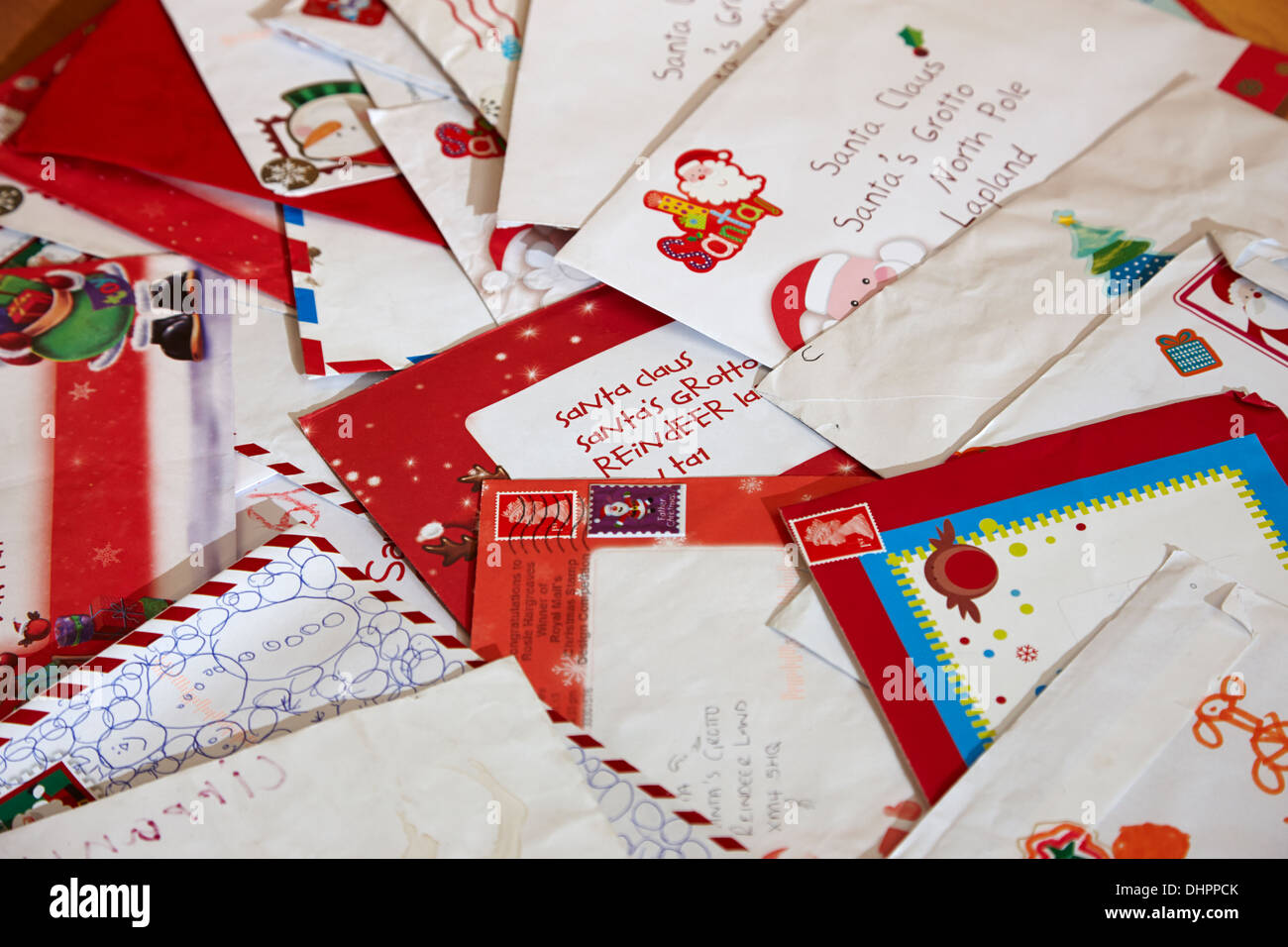 Santa mail stock photos santa mail stock images alamy pile of childrens christmas letters to santa stock image spiritdancerdesigns Choice Image