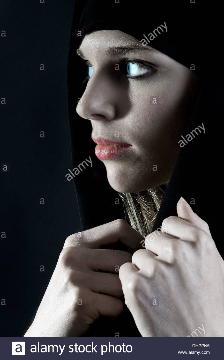woman with burka - Stock Image