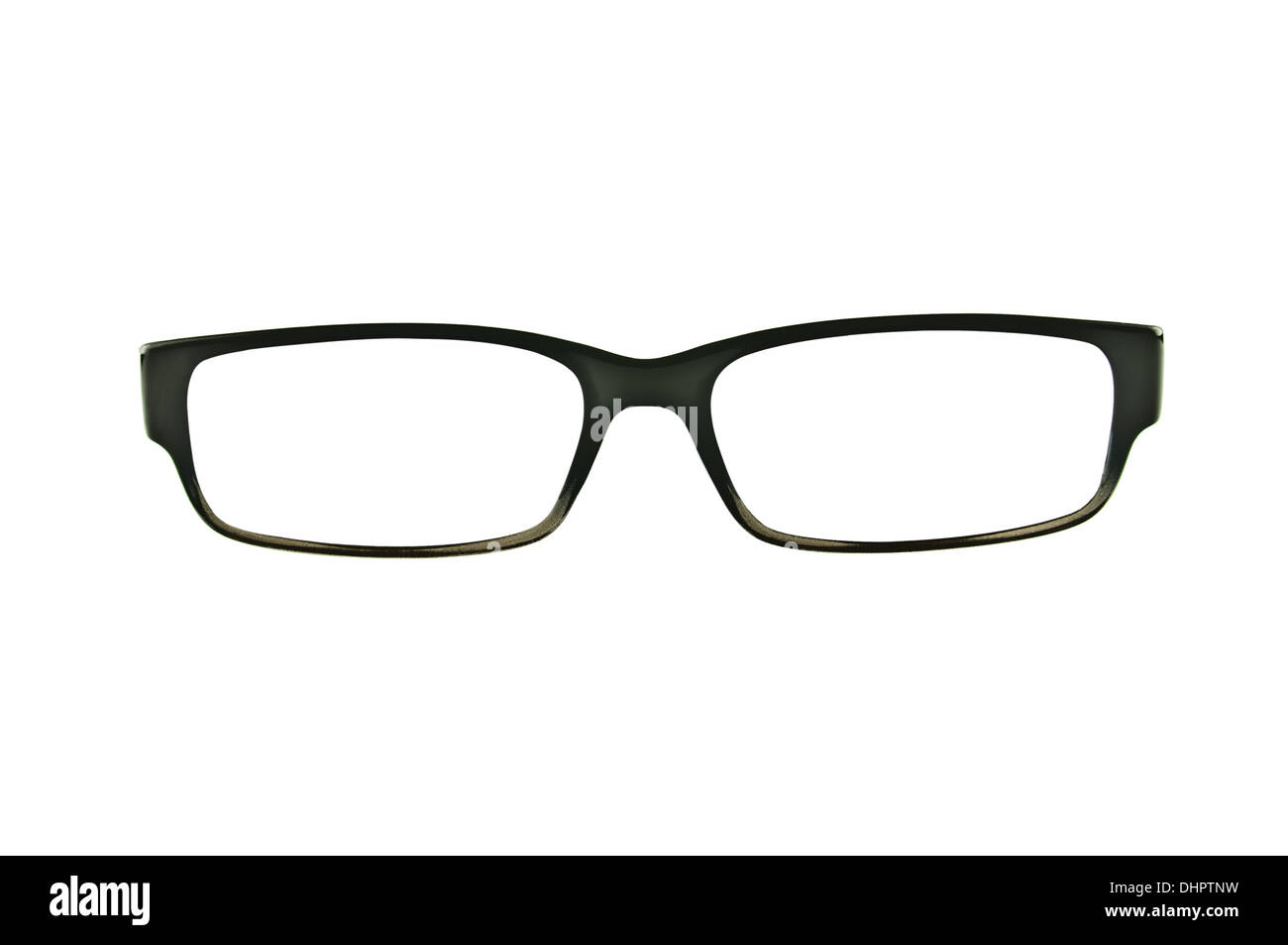 Black eyeglasses frames isolated on pure white - Stock Image