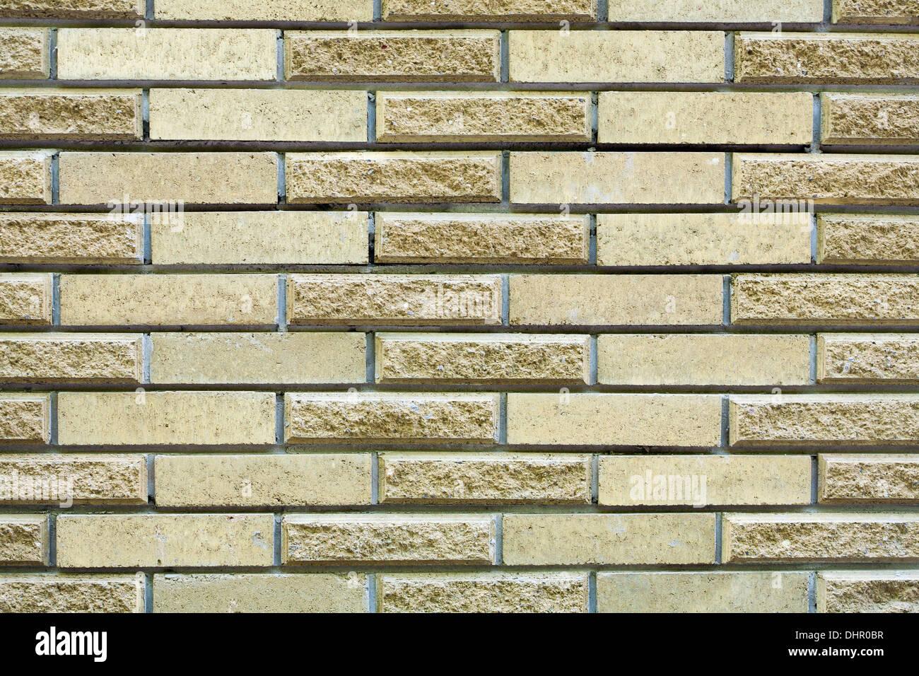 High resolution cream brick wall texture - Stock Image