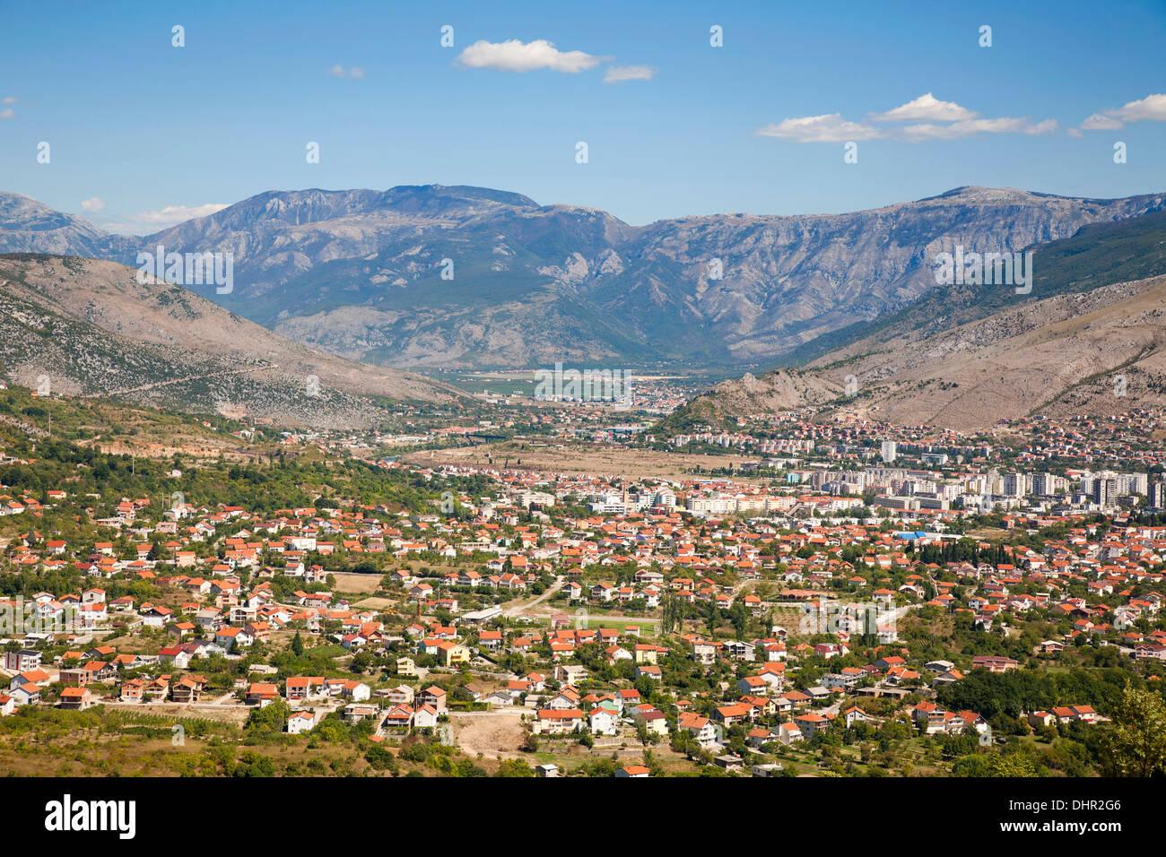 panoramic view, mostar, bosnia and herzegovina, europe - Stock Image