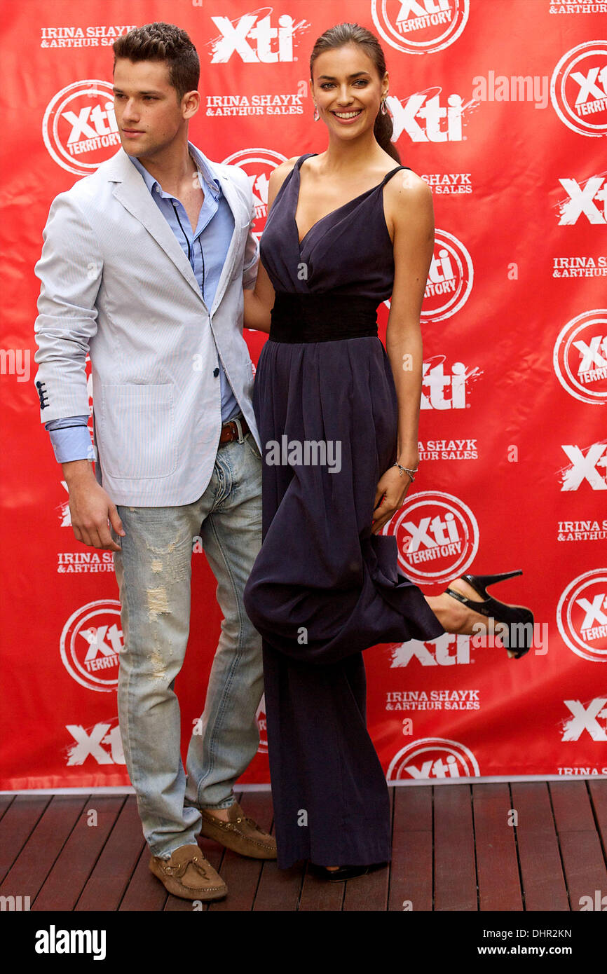3b86823d Irina Shayk and Arthur Sales The launch of 'Xti' shoes Autum-Winter 2012-13  collection at the Hospes Hotel Madrid, Spain - 18.05.12