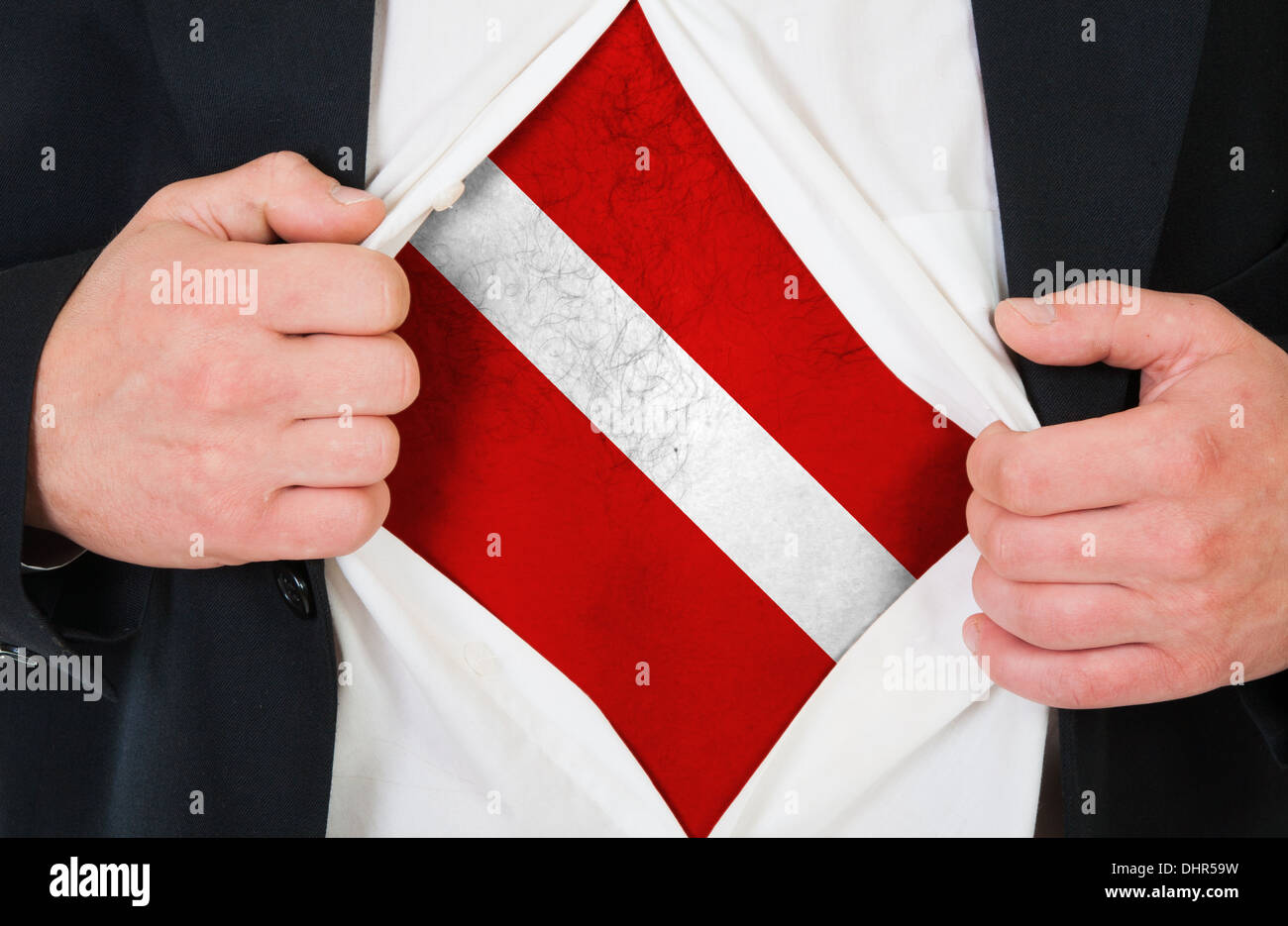 The Latvian flag - Stock Image
