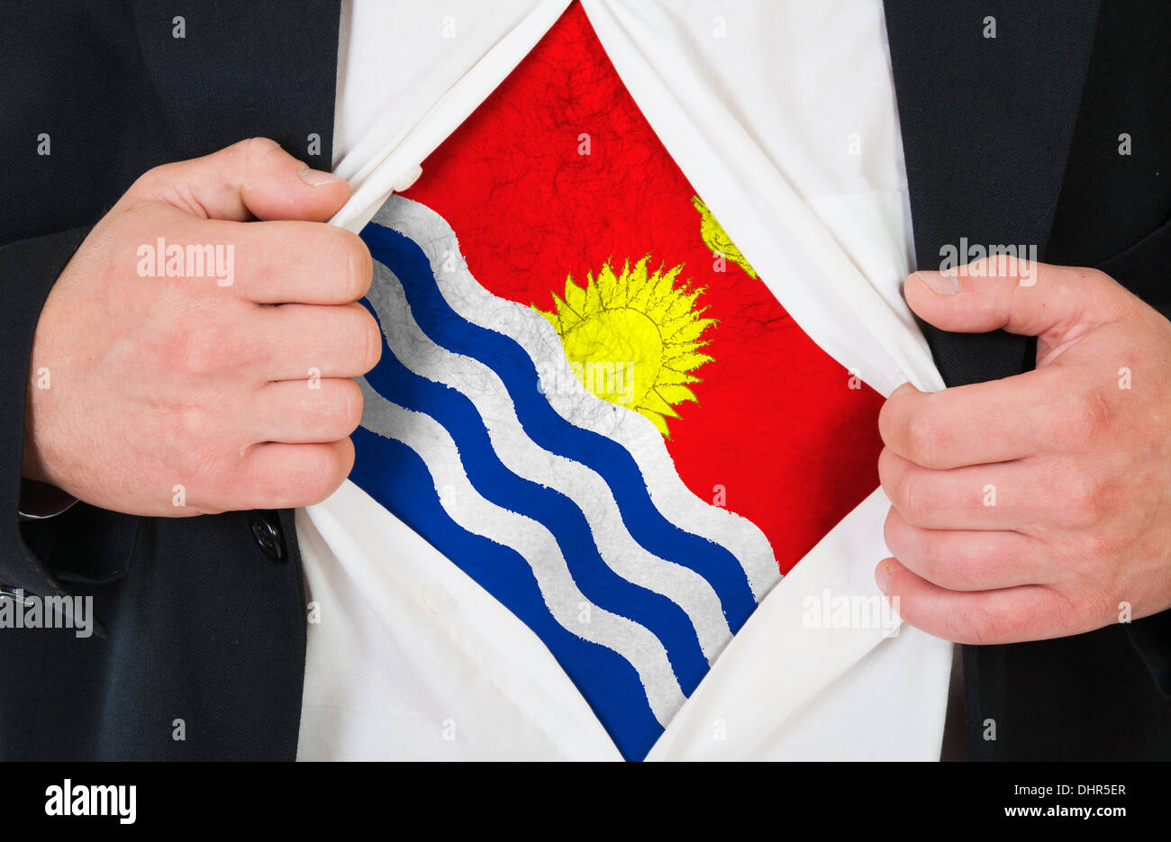 The Kiribati flag Stock Photo