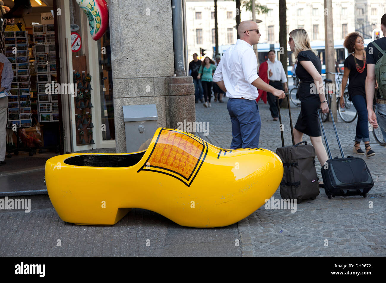 Large Wooden Shoe In Amsterdam Netherlands Stock Photo 62590054