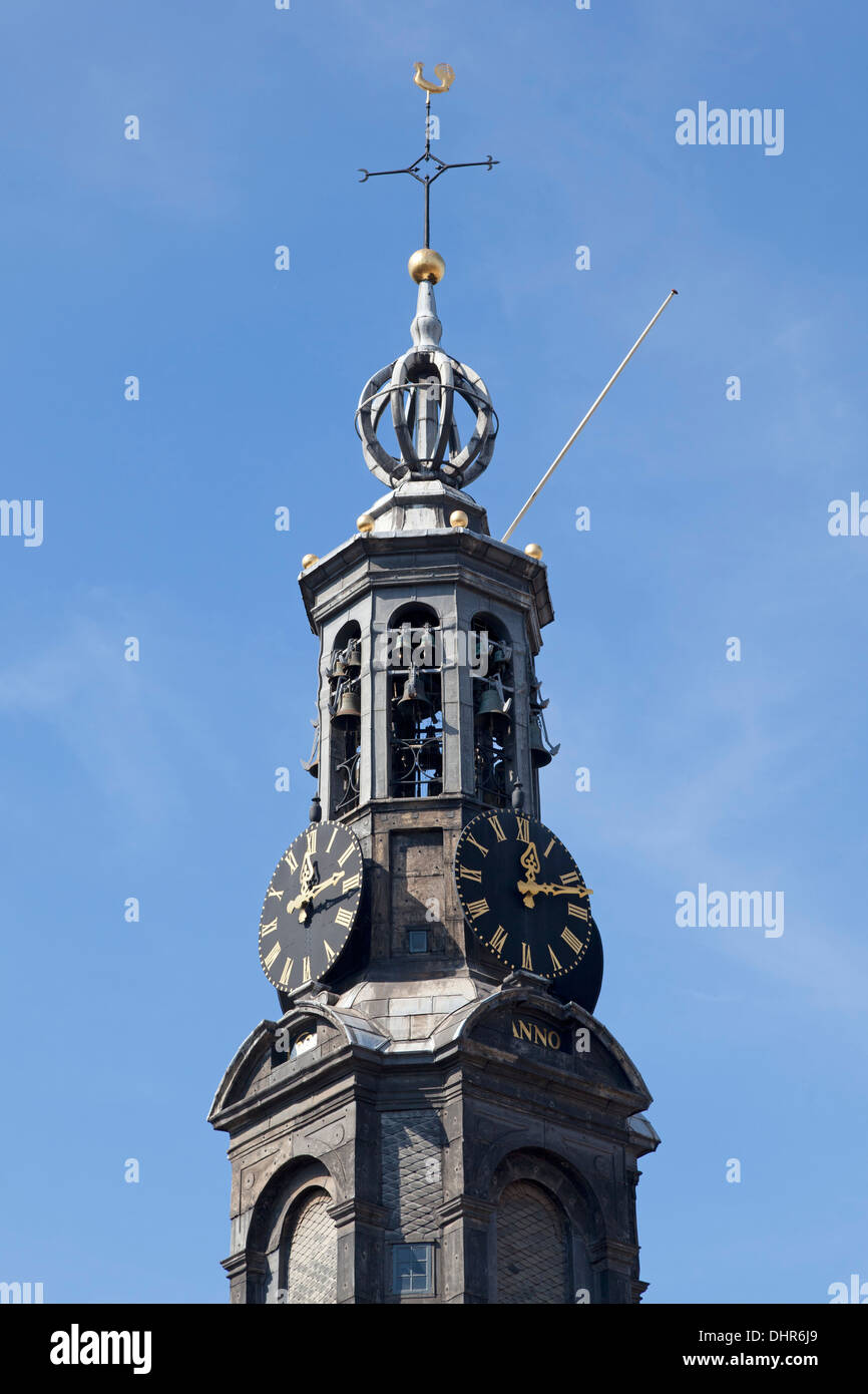 Munt tower in Amsterdam, Holland Stock Photo