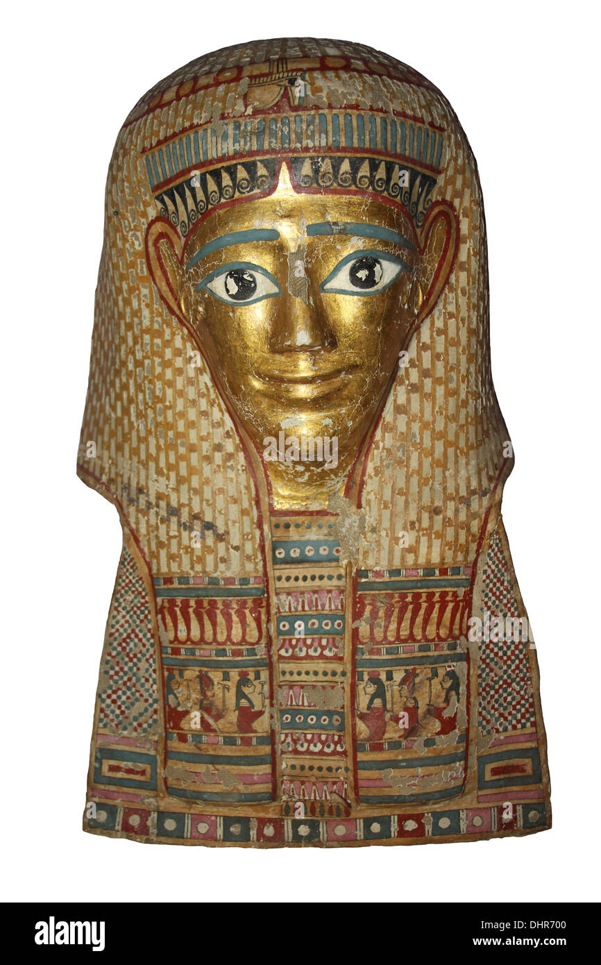Ancient Egyptian Death Mask - Stock Image