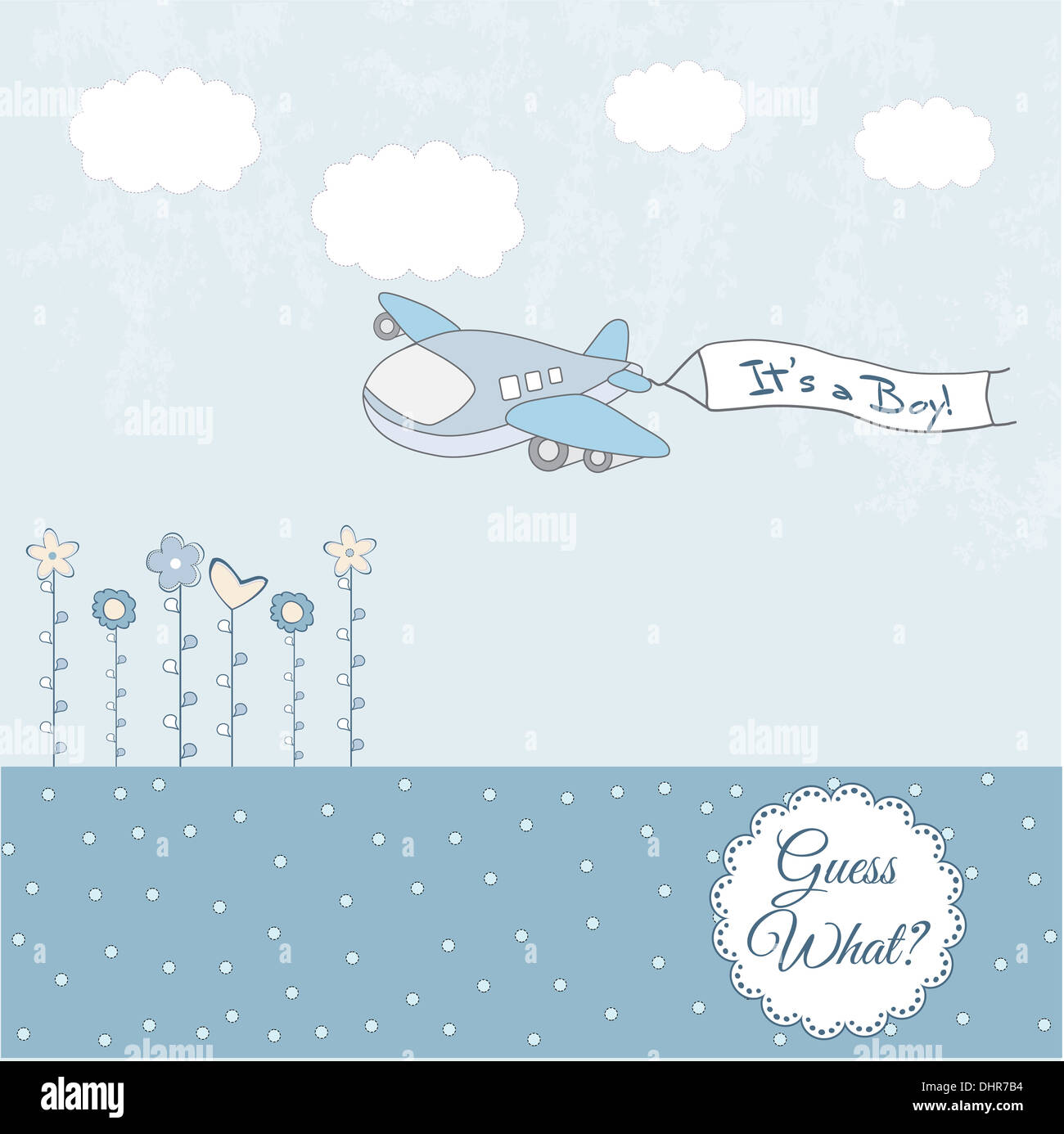 baby boy announcement card with airplane stock photo 62590952 alamy