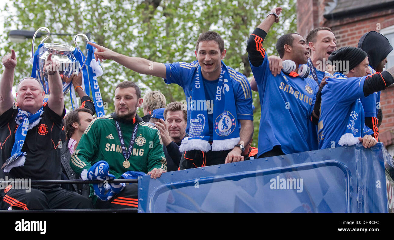 Frank Lampard Chelsea FC European Champions League Victory Parade