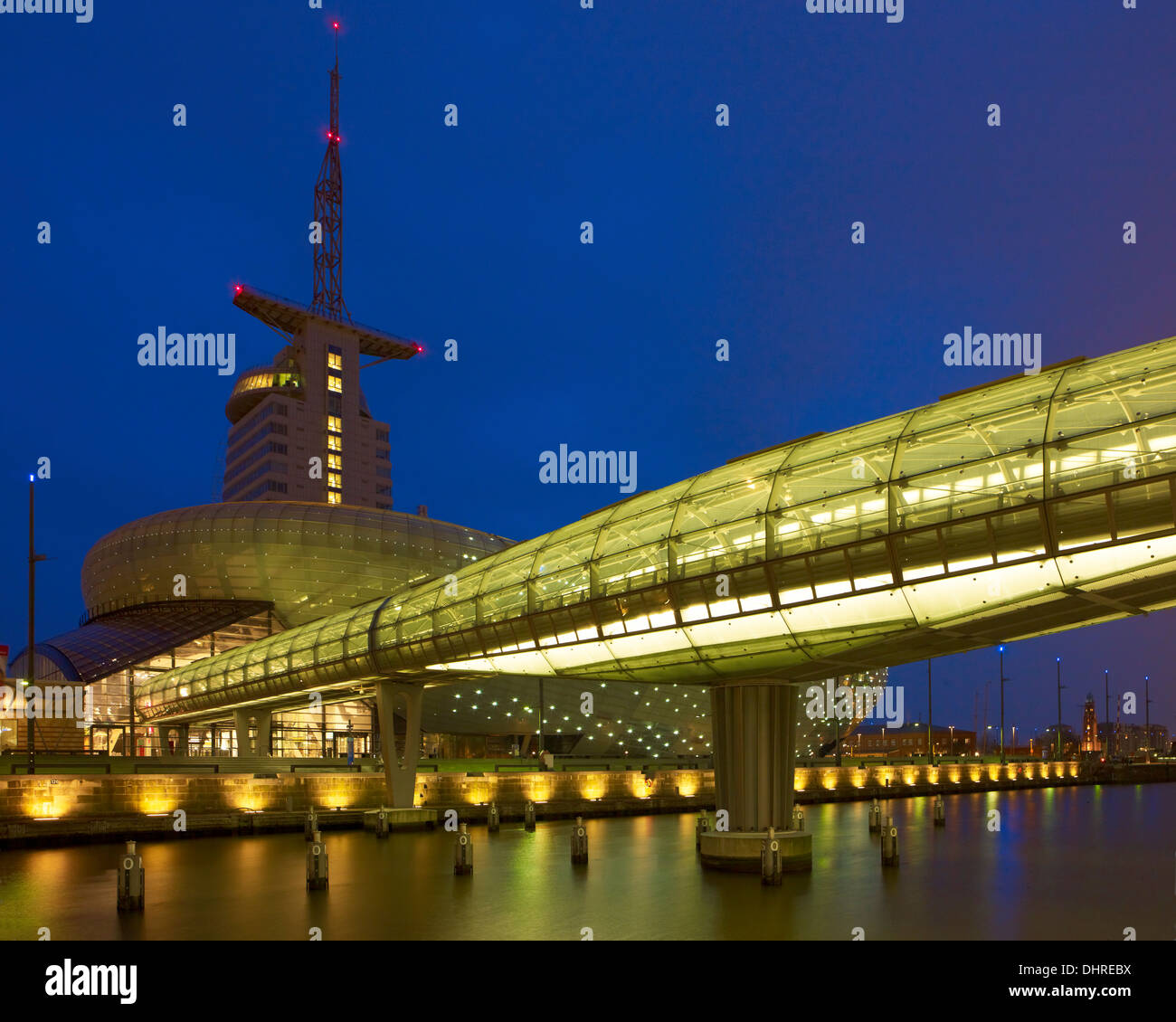 Atlantic Hotel Sail City and Klimahaus, Bremerhaven, Bremen, Germany - Stock Image
