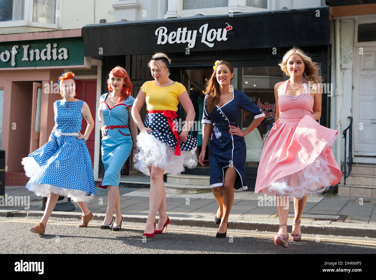 Vintage style clothes brighton  Vintage Ladies Fashion Stock Photos & Vintage Ladies Fashion Stock ...