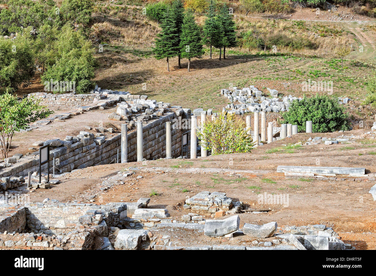 Pilgrimage route Ephesus Turkey - Stock Image