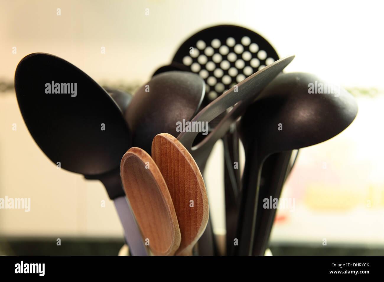 Selection of kitchen utensils - Stock Image