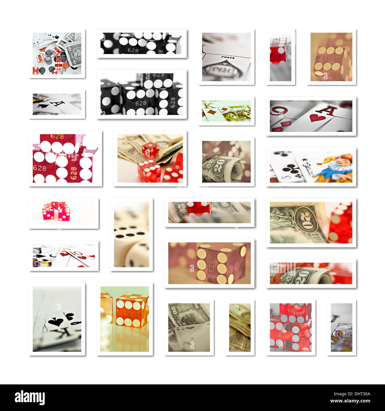 gambling collage - Stock Image