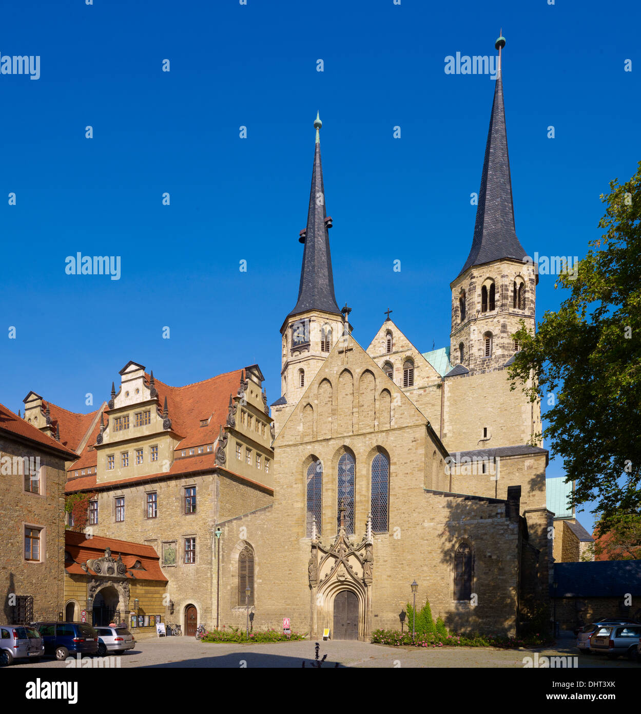 Merseburg Cathedral with priory, Merseburg, Saxony-Anhalt, Germany - Stock Image