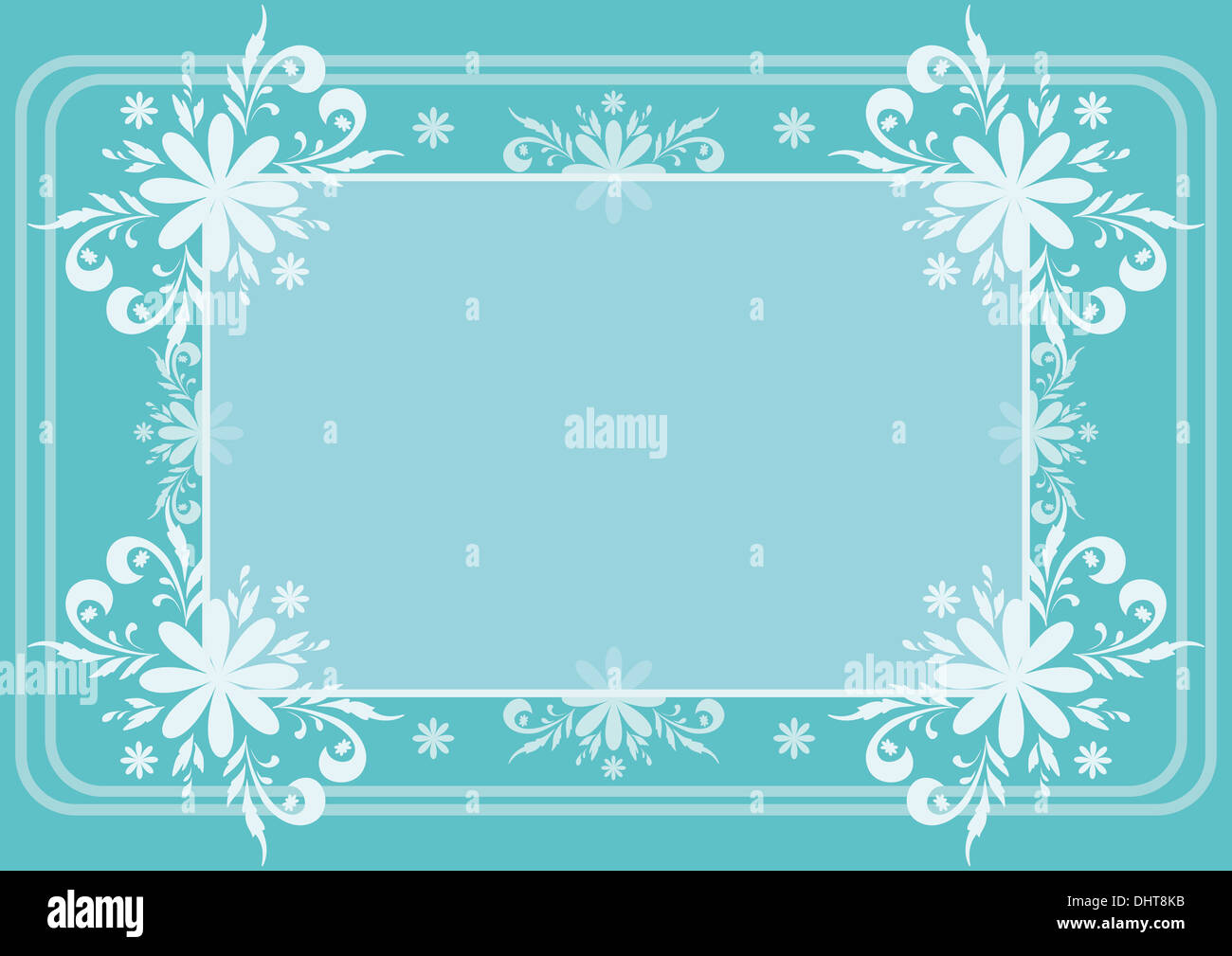 Background, flowers and frame - Stock Image