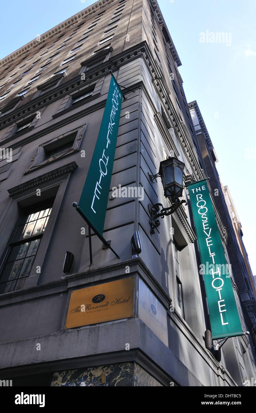 Roosevelt Hotel New York Stock Photos & Roosevelt Hotel