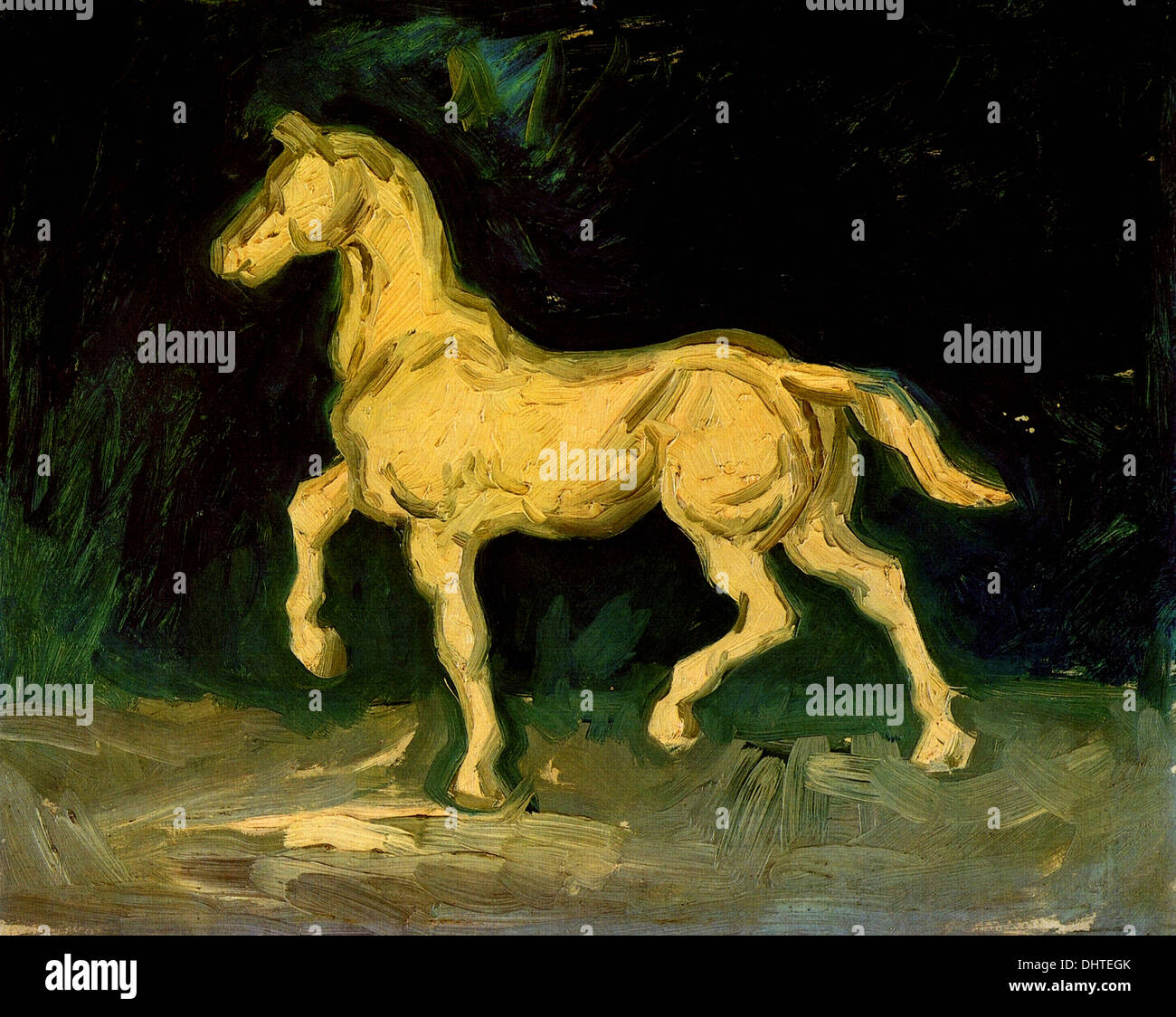 Plaster Statuette of a Horse - by Vincent van Gogh, 1886 - Stock Image